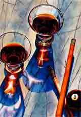 break time coffee, martini, tea and wine art and gifts, coffee, martini, tea and wine gifts, coffee, martini, tea and wine paintings and prints by artists Jane Billman and Gregg Billman
