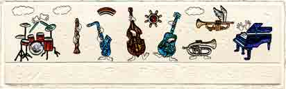 house band, music art and musical instruments art, music gifts and musical instruments gifts, music prints and musical instruments prints, music paintings and musical instruments paintings by artists Jane Billman and Gregg Billman
